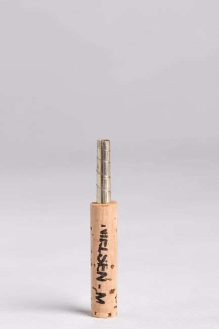 "47 mm Silver ""Nielsen"" Oboe Staple, Natural Cork"